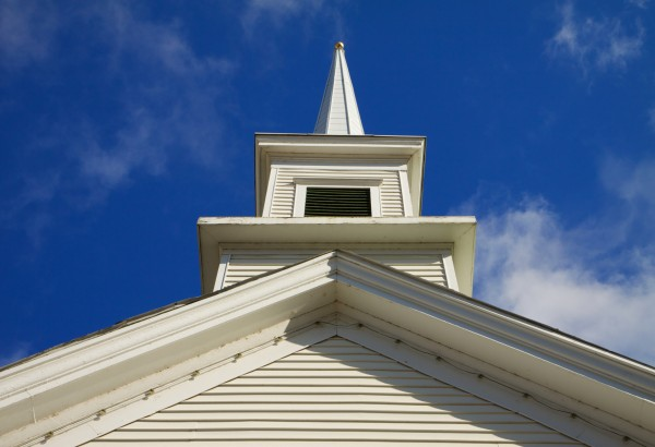 Church steeple horizontal